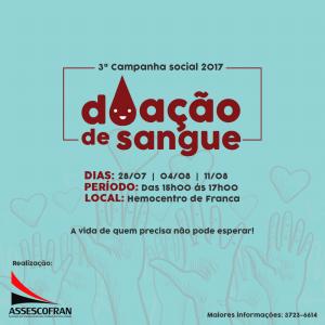Campanha Doação de Sangue @ Hemocentro de Franca