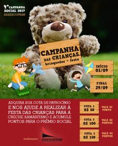 Campanha das Crianças (Brinquedos + festa) - Assescofran 2017 @ Assescofran