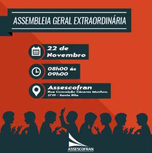 ASSEMBLÉIA GERAL EXTRAORDINÁRIA @ Assescofran
