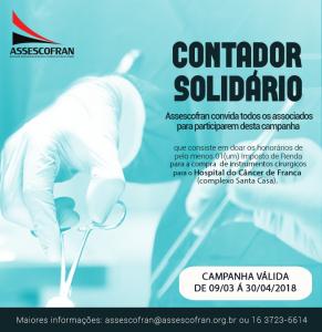 Final da Campanha Contador Solidário @ Assescofran