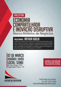 Palestra Economia Compartilhada e Inovação Disruptiva @ Senai Franca