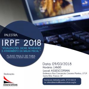 Palestra IRPF 2018 @ Assescofran