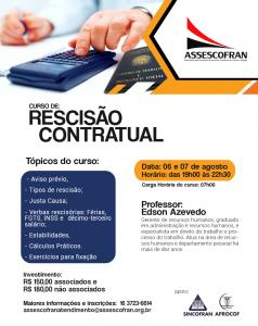 Curso Rescisão Contratual - Edson Azevedo @ Assescofran