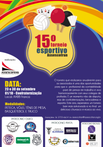 15° Torneio Esportivo Assescofran @ AABB FRANCA