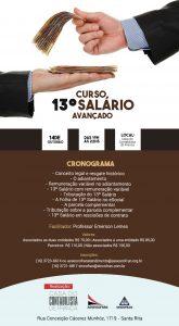 Curso - 13° SALÁRIO E FÉRIAS @ ASSOCIACAO DAS EMPRESAS DE SERVICOS CONTABEIS DE FRANCA